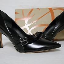 Via Spiga Size 9.5 M Irving Black Leather Pumps Heels New Womens Shoes Photo