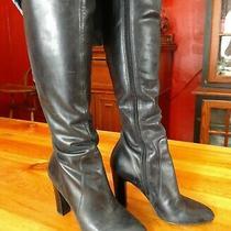 Via Spiga Tall Black Leather 3
