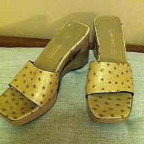 Via Spiga Wedge Sandals in Size 8 With See Through Detail. Photo