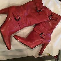 Via Spiga Wine Calf Boots - Size 9m Photo