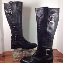 Via Spiga Woman's Boots Size 8 Leather Black Like New Photo