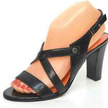 Via Spiga Women's Black Strappy Sandal Size 7m Photo