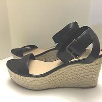 Via Spiga Women's Size 8m Espadrille Wedge Ankle Strap Platform Black Photo