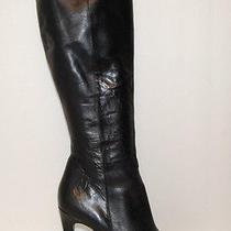 Via Spiga Womens Black Leather Boots Shoe Size 8 M Photo