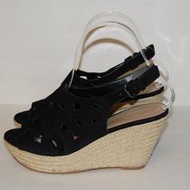 Via Spiga Womens Black Slingback Wedges Shoe Size 6.5  Photo