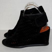 Via Spiga Womens Black Suede Wedge Heels Shoe Size 7.5 M Photo