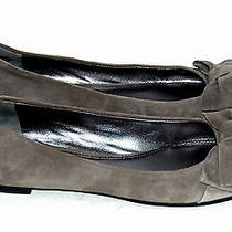 Via Spiga Womens Gray Suede With Bow Ballet Flats Shoe Size 7.5 M Photo