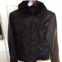 Via Spiga Womens Jacket Real Rabbit Fur Photo