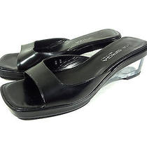 Via Spiga Womens Mules Sandals Black Shoes Clear Heels Made in Italy Size 6 B Photo