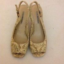 Via Spiga Womens Open Toe Slingbacks Heels Shoes Size 8 M Photo