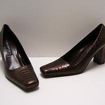 Via Spiga Womens Shoes Sz 8.5 N Lauder Heels Expresso Pumps Dress Casual Italy Photo