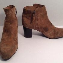 Via Spiga Womens Size Us 10 M Eur 42 Brown Suede Ankle Boots Photo