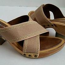 Via Spiga Wood Hell Sandals 8.5m Photo