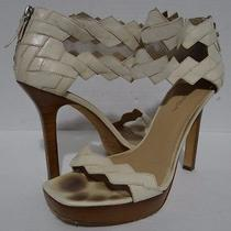 Via Spiga Zigzag Platform Heels Size 8.5 M Photo