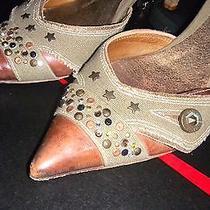 Vic Matie Brown Kitten Heels Used Photo