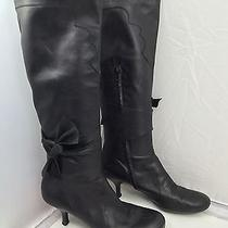 Vic Matie Heeled Black Leather Boots Size 38.5 ( U.s. Size 8 ) Made in Italy Photo