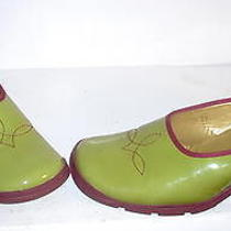 Vic Matie Lime Green Patent Leather Heels Shoes 8.5 Us Photo