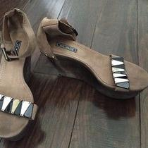 Vic Matie Wedge Heels Made in Italy Worn Once Sz 37 Brown  Photo