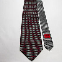 Vicky Davis Tee Time 100% Silk Tie Red Black White Golf Pga Watch Photo