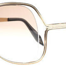 Victoria Beckham Butterfly Rose Gold Gold Sunglasses Photo