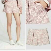 Victoria Beckham for Target Nwt Women's Blush/white Paisley Print Shorts Size 6 Photo