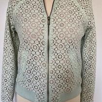 Victoria Beckham for Target Sold Out Mint Green Lace Bomber Jacket Sz Xs Photo