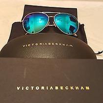 Victoria Beckham Gold Toned Aviator Sunglasses Photo