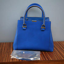 Victoria Beckham Quincy Bright Blue Tote Bag Crossbody Buffalo Leather 1575 Photo