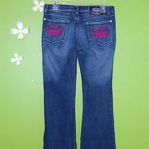 Victoria Beckham Rock & Republic Jeans - Pink Crowns - Boot Cut - Womens Size 29 Photo