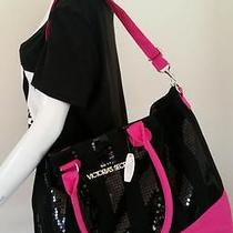 Victoria's Secret 2013 Le Sequin Black Friday Canvas Weekender Tote Bag (Nwt) Photo