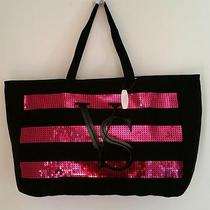 Victoria's Secret 2014 Le Sequin Black Friday Canvas Weekender Tote Bag (Nwt) Photo