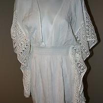 Victoria's Secret 2015 Kaftan White Crochet Plunge Front Backless Cover Up S M Photo