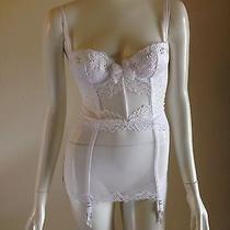 Victoria's Secret 32c Angels Fantasy Garter Slip White Bridal Corset Photo