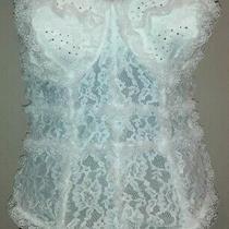 Victoria's Secret 36d Swarovski Crystals Designer Collection Corset White Bridal Photo