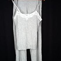 Victorias Secret56 Body by Victoria Lace-Trim Modal Pajama Heather Gray Size L Photo
