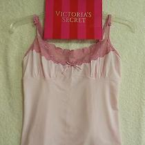 Victoria's Secret Angels Camisole-Soft Pink W Lace Trim-Medium-Free Shipping Photo