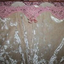 Victoria's Secret Angels Crushed Velvet Blush Pajama Lounge Pants W/pink Lace M Photo
