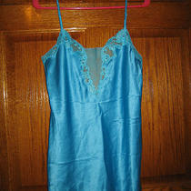 Victoria's Secret Aqua Color Chemise Size S      (7315) Photo