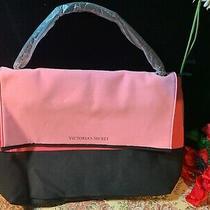 Victoria's Secret Bag Tote Cooler Beach Pink & Black Beach Insulated New W/o Tag Photo