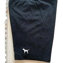Victorias Secret Black Bike Dog Logo Yoga Shorts Size Xsmall Photo