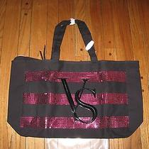Victoria's Secret Black Friday 2014 Extra Large Sequin Tote Bag Nib/nwt Photo