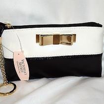 Victoria's Secret Bow Mini Bag Coin Purse Keychain Wristlet Wallet New Photo