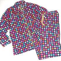Victoria's Secret Bright Polkadot 2pc Flannel Pajama Set Pj's X-Small Photo