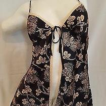 Victoria's Secret Flowered Gold & Black Teddy / Babydoll Size Xs Photo