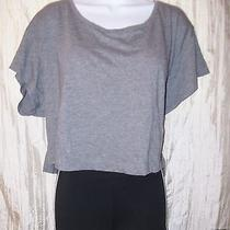 Victoria's Secret Gray Cotton Loose Fit Tank Tee Top Sp Nwt Photo