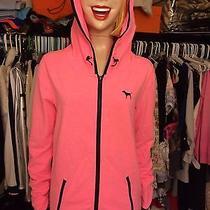 Victoria's Secret Hoodie Sweatshirt Logo Puppy Small S Zip Sport Pink Nwt 59.50 Photo