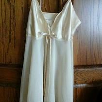Victoria's Secret Ivory Satin & Sheer Nightgown Lingerie Nightie Small Photo