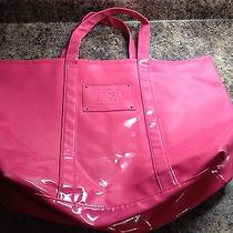 Victoria's Secret Large Beauty Candy Plastic Pink Jelly Tote Beach Bag Photo