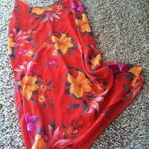 Victoria's Secret Lingerie Orange Floral Print Sexy Size L Photo