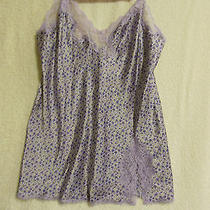 Victoria's Secret Lingerie-Purple Floral Babydoll Nightie-Large-Free Shipping Photo